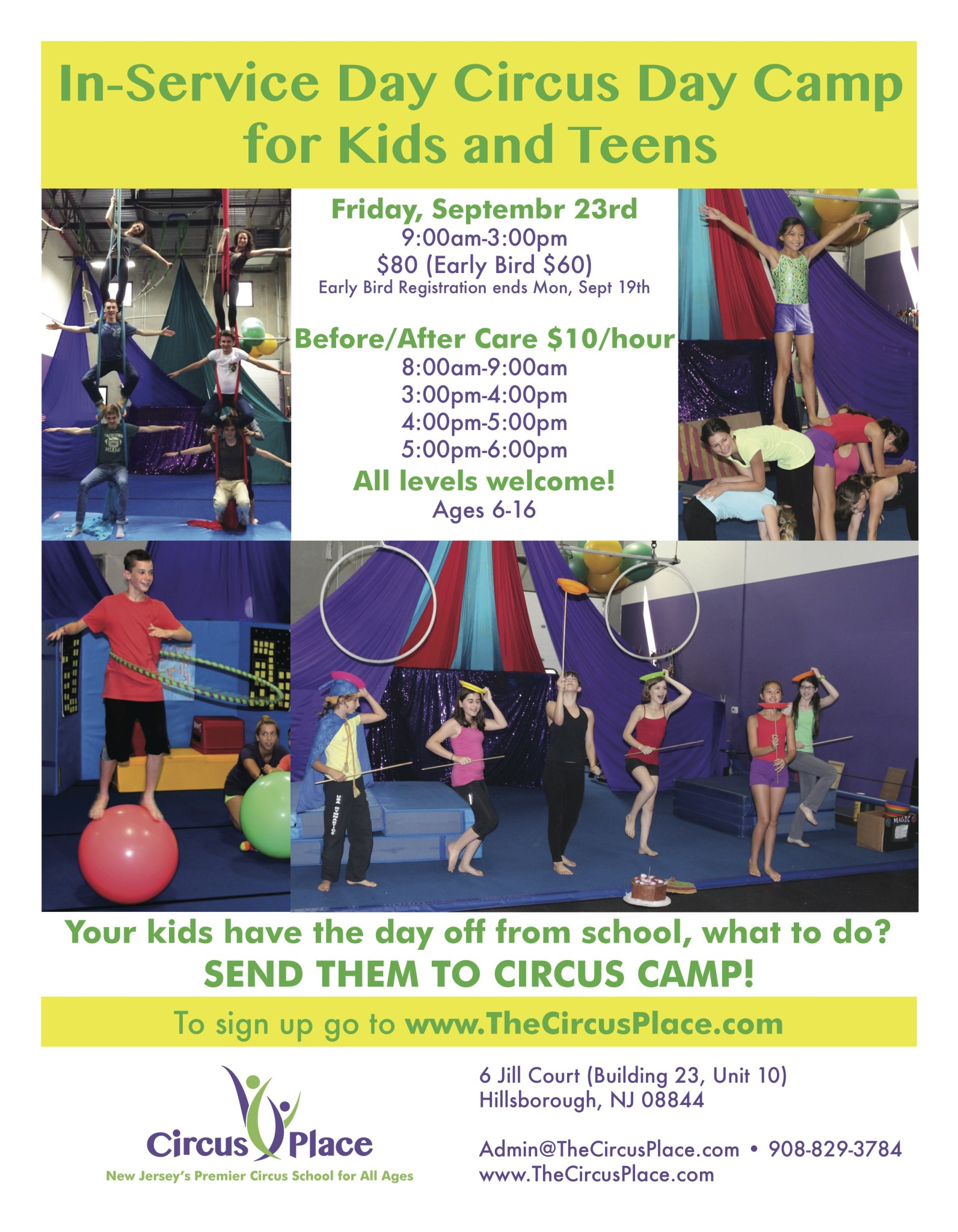 Circus Day Camp at Circus Place
